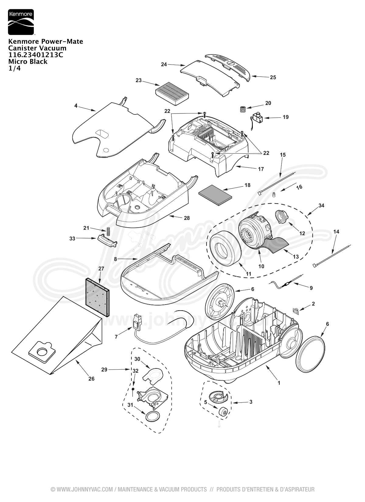 Kenmore Canister Vacuum Wiring Diagram. . Wiring Diagram on