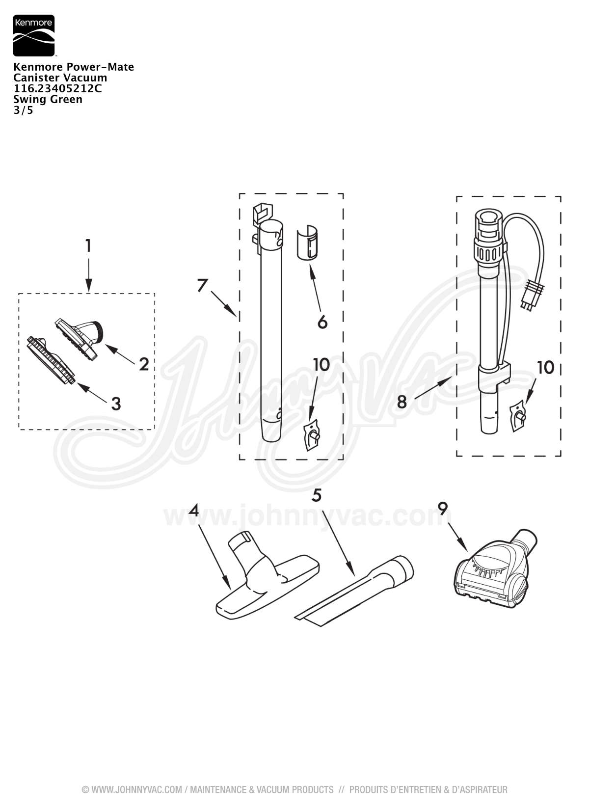 Kenmore Powermate Canister Vacuum Wiring Diagram Schematic Exploded View For Models