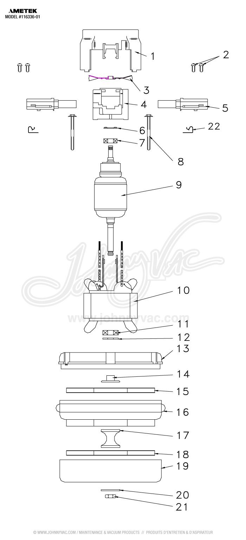 L11633601 Bypass Motor 2 Fans 120 V Lamb Ametek 116336 01 B Wiring Diagram Description Sku Jv