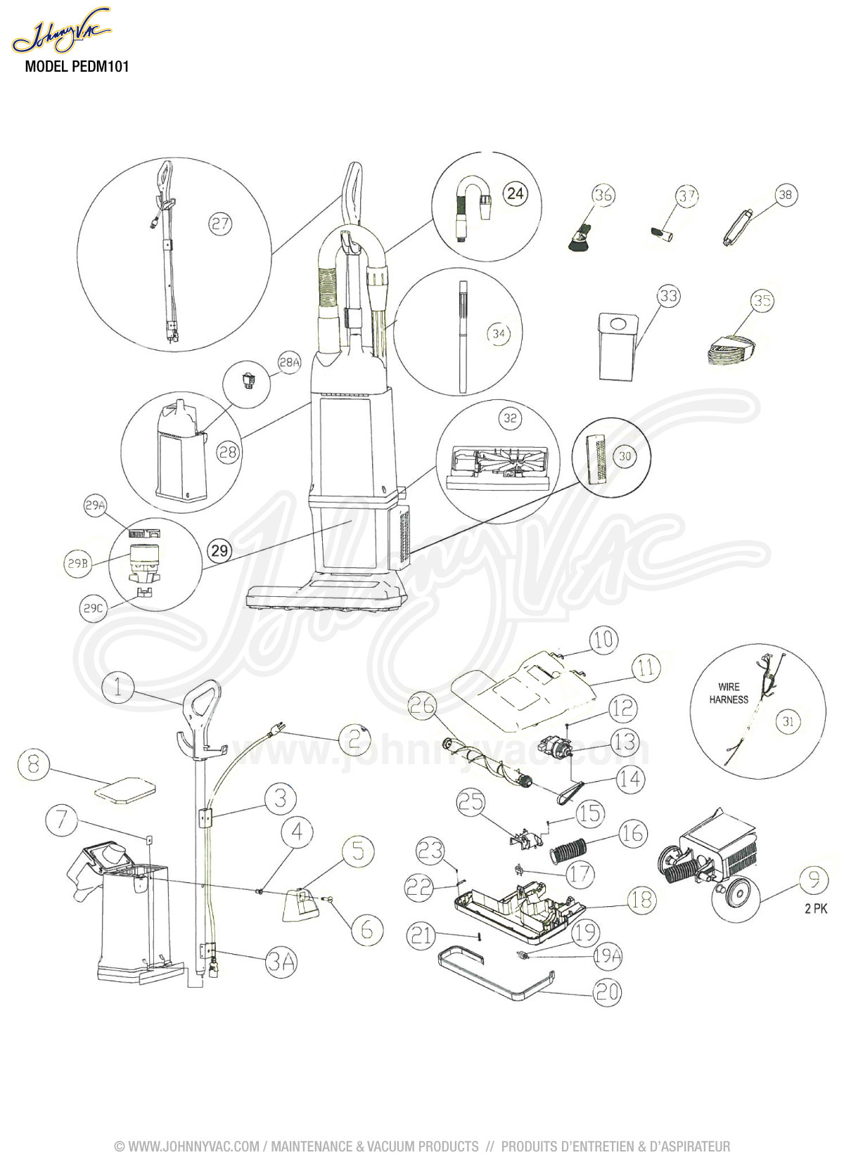 wrg 3714 perfect vacuum wiring diagram Jet Vac Parts vacuum schematic exploded view for dm101 model s dm101
