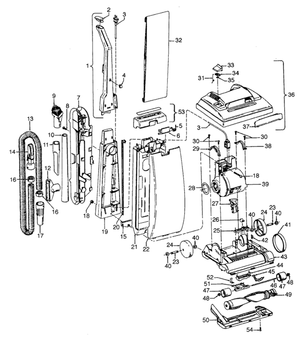 Hoover Elite Schematic