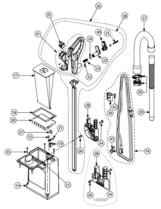 hepa pro team parts imagenesmi Rainbow Vacuum Parts vacuum schematic exploded view for proteam procare hepa upright vacuum model 521x675 hepa pro team