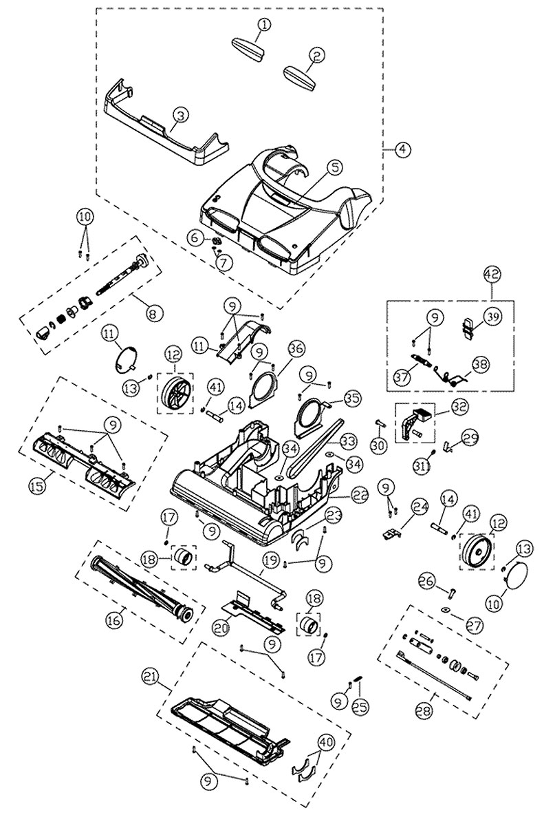 Simplicity X94 Synergy Upright Vacuum 3800 Engine Vacume Lines Diagram Schematic Exploded View For Model
